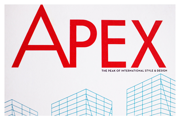 APEX Magazine  The Peak of International Style & Design